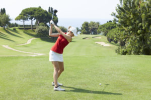 Playing golf at Llavaneras Golf CLub